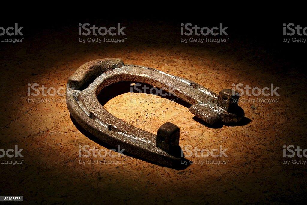Old rusty horseshoe royalty-free stock photo