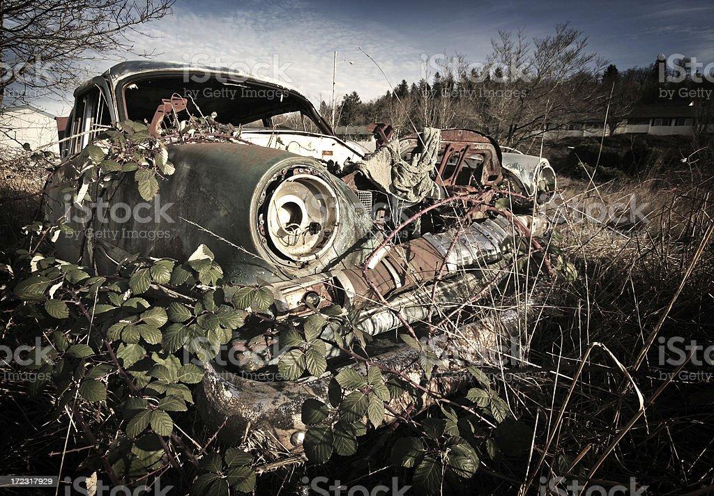 Old Rusty Junk Yard Car royalty-free stock photo