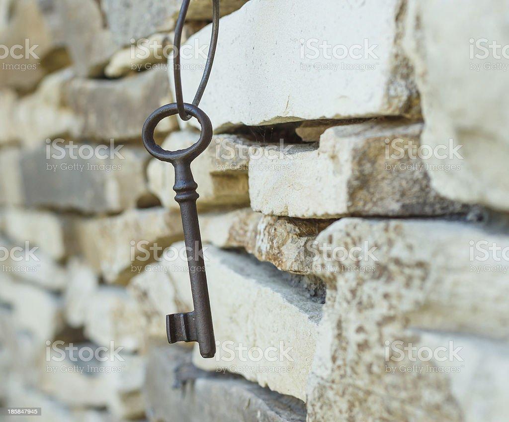 old rusty key royalty-free stock photo