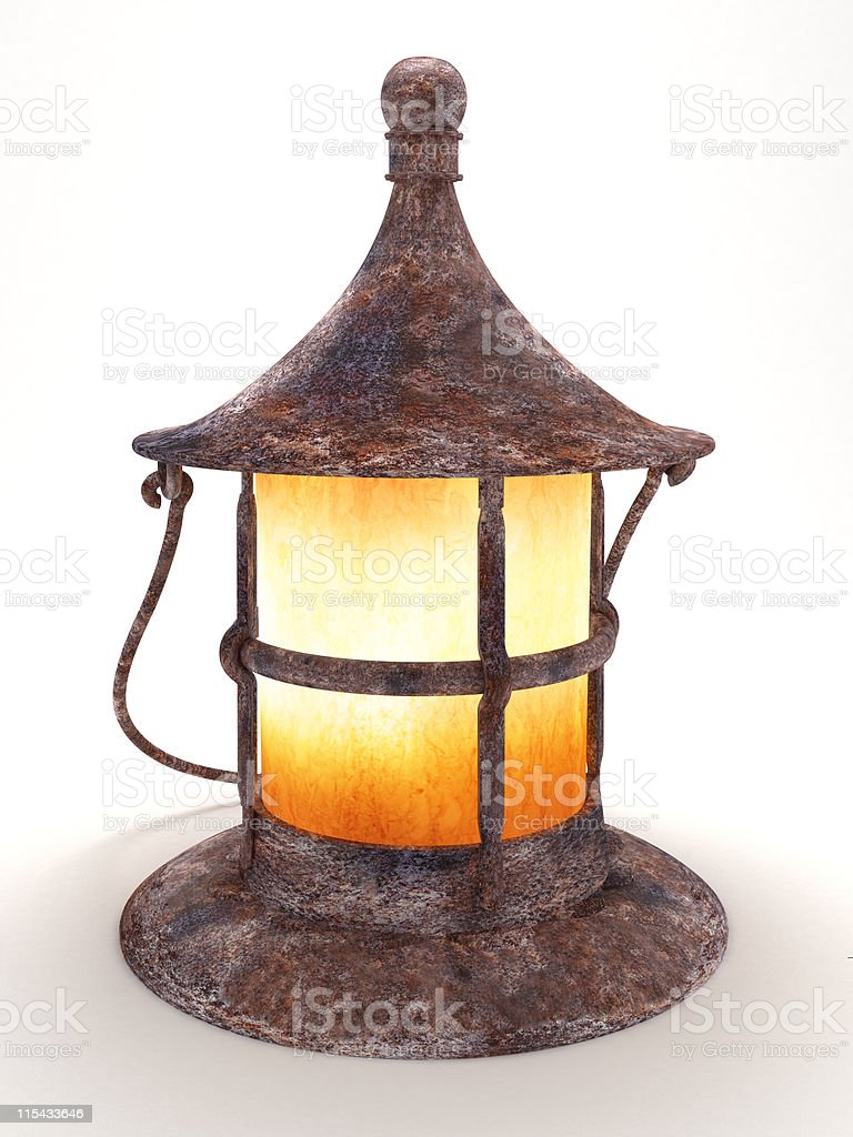 Old rusty lamp royalty-free stock photo