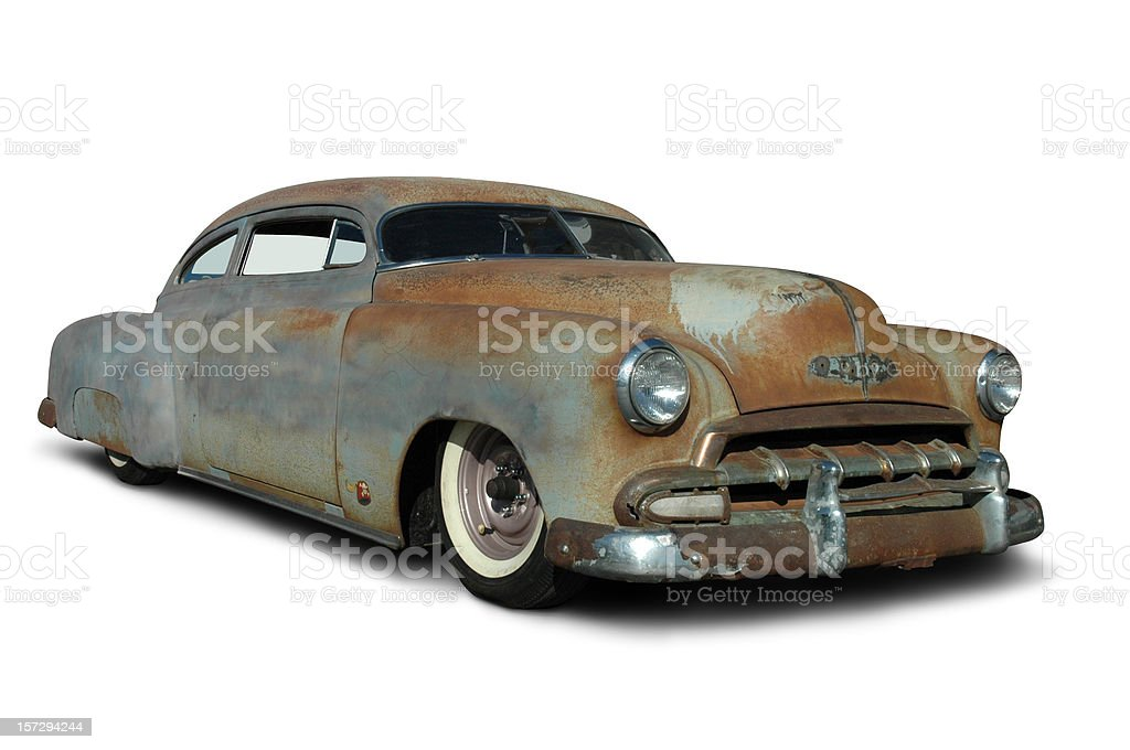 Old Rusty Low Rider stock photo