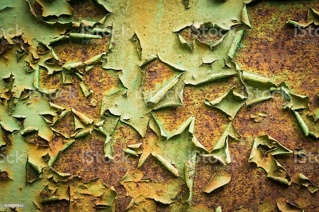 Old rusty metal and peeling paint royalty-free stock photo