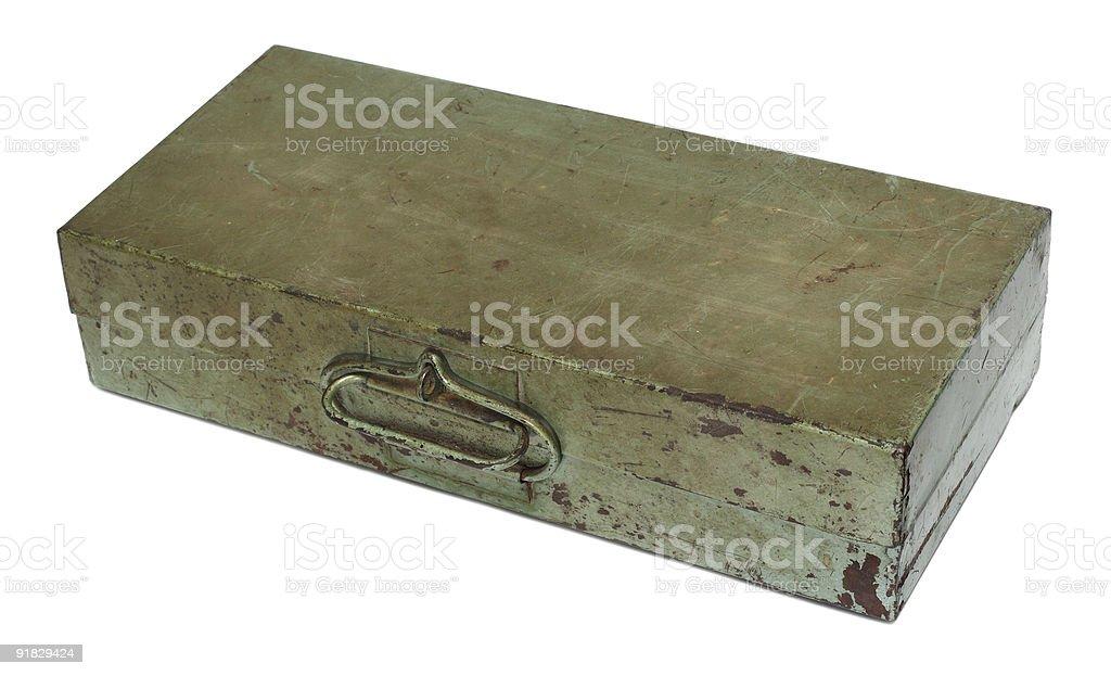 old rusty metal box royalty-free stock photo