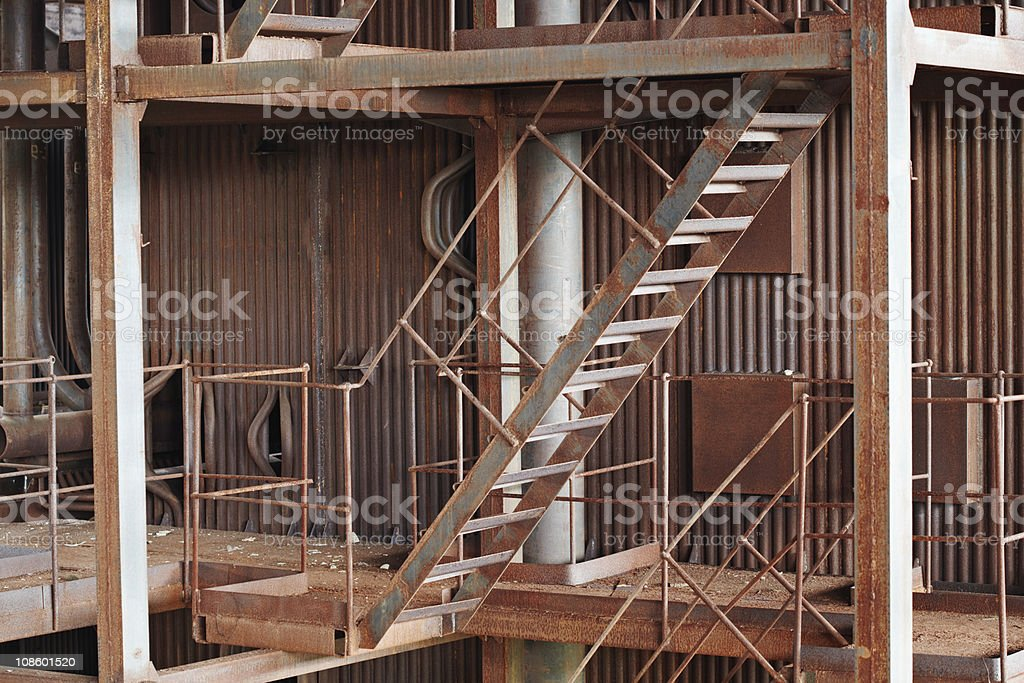 Old rusty metal construction royalty-free stock photo