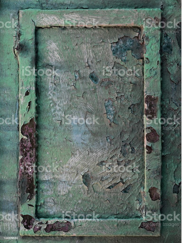 Old rusty metal frame royalty-free stock photo