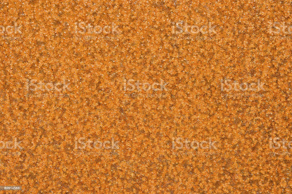Old rusty metal plate. Color background texture. stock photo