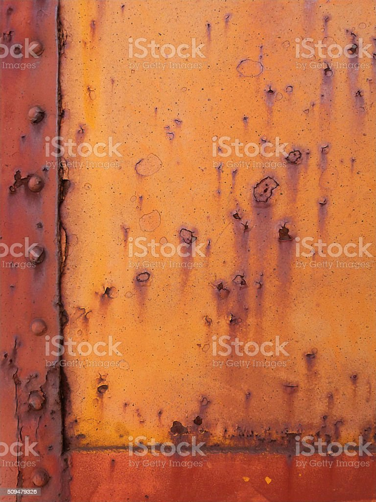 Old Rusty Metal Rivots Grunge Abstract Background Weathered Multi Colored stock photo