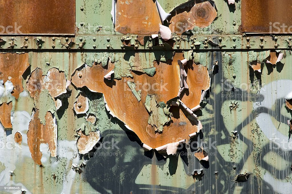 old rusty metall structur stock photo