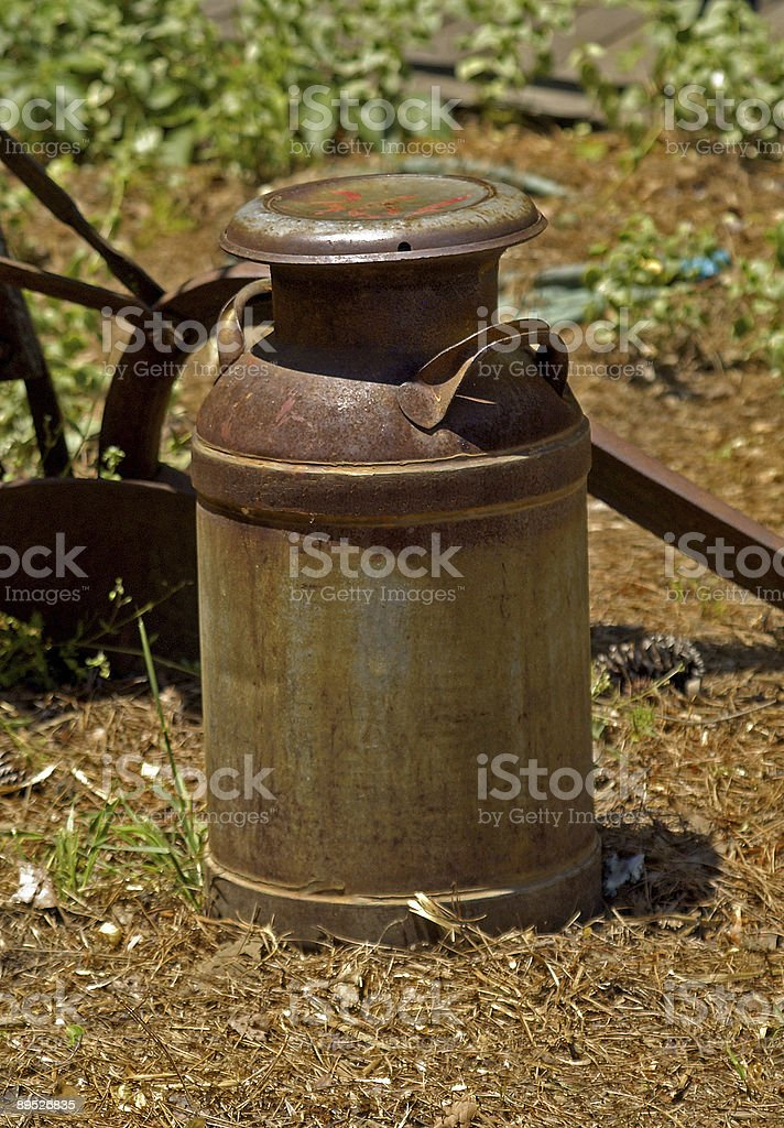 old rusty milk can royalty-free stock photo