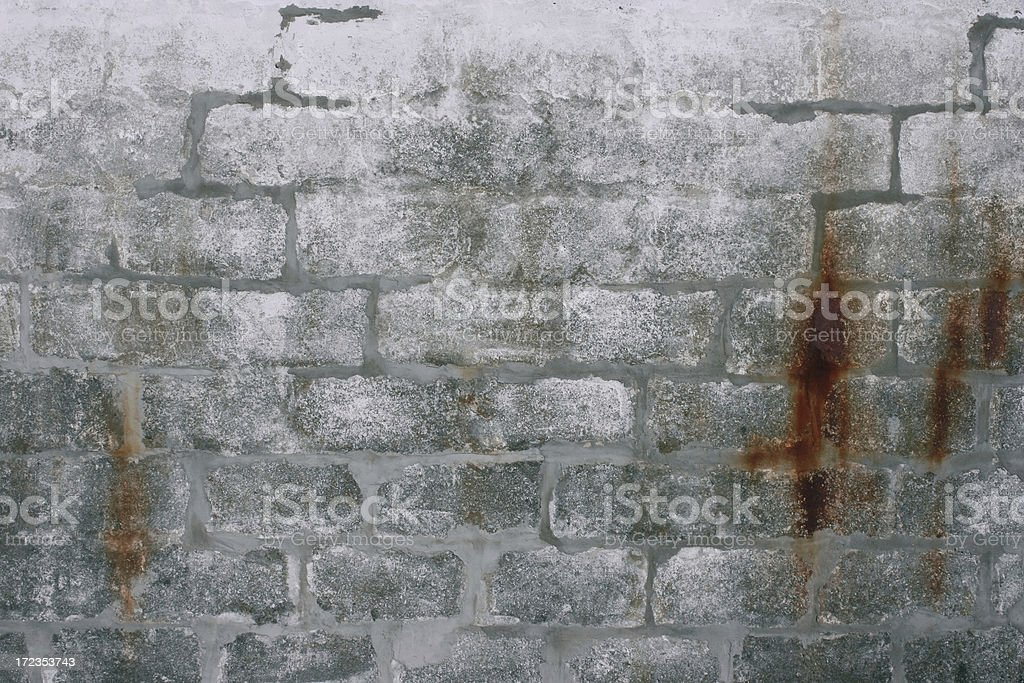 Old Rusty Mortar Bricks royalty-free stock photo
