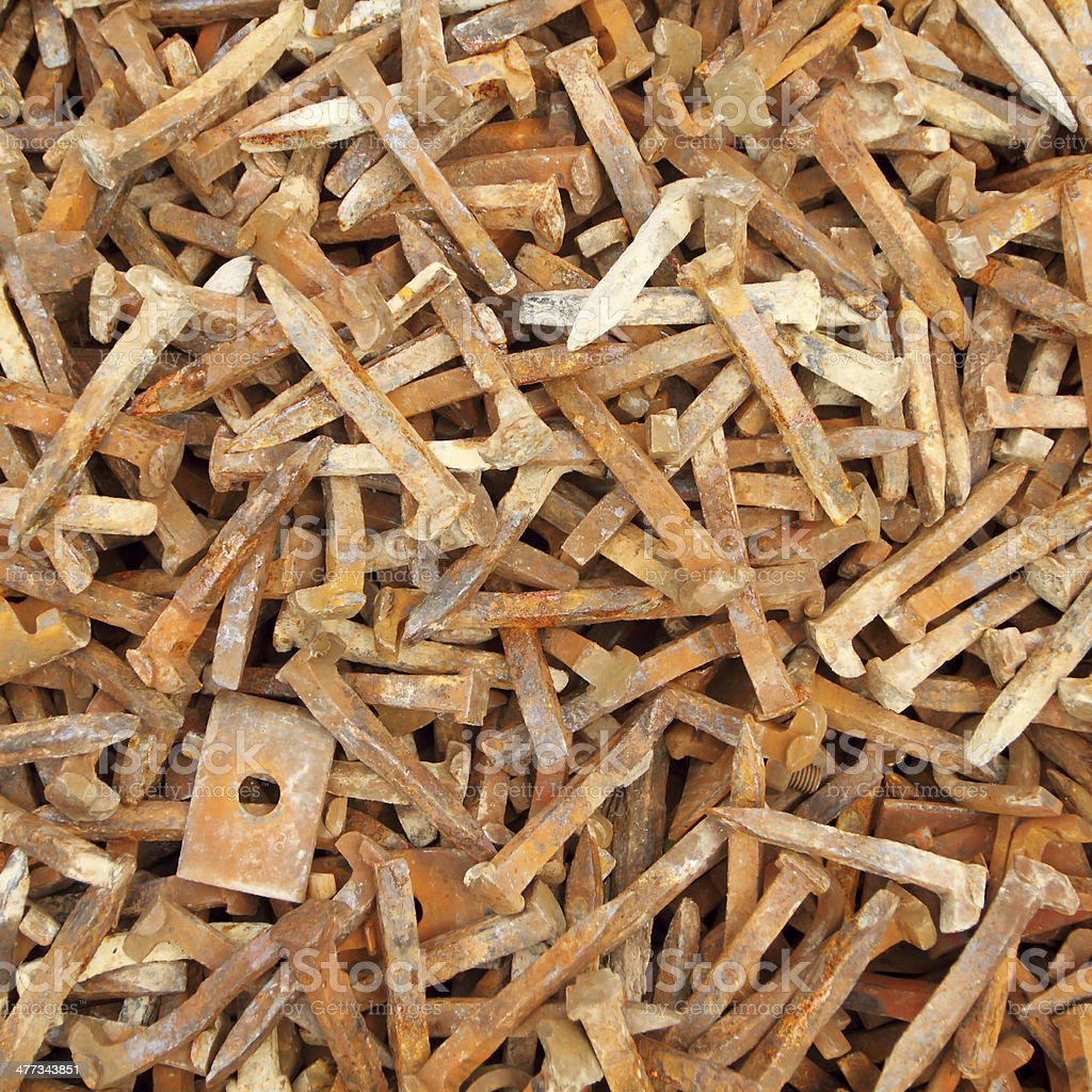 old rusty nails royalty-free stock photo