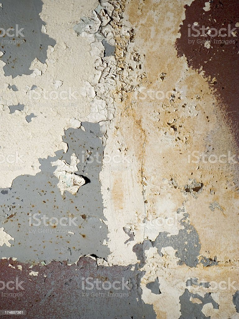 Old Rusty & Painted Grunge Metal Wall Vertical royalty-free stock photo