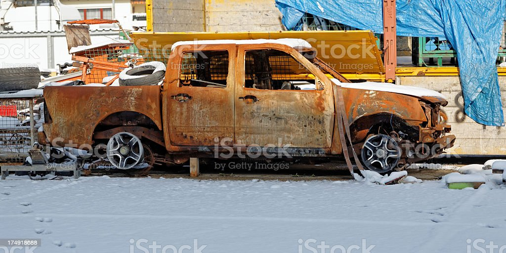 old rusty pickup royalty-free stock photo