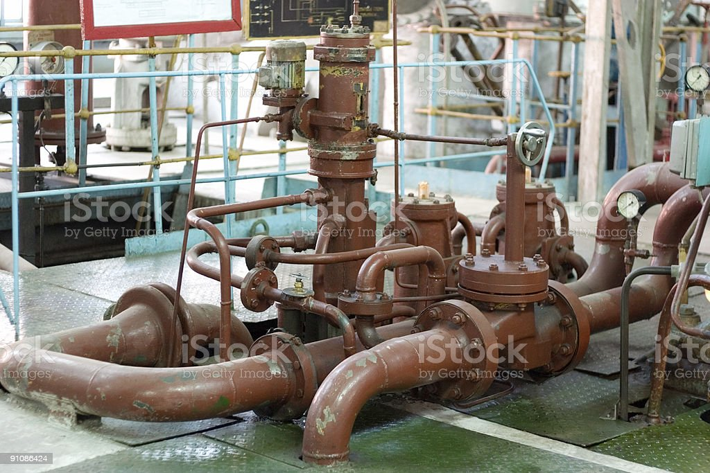 Old rusty pipes royalty-free stock photo