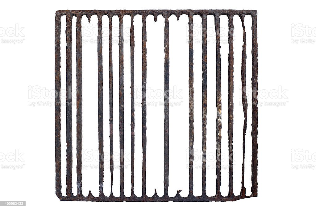 old, rusty prison grating royalty-free stock photo