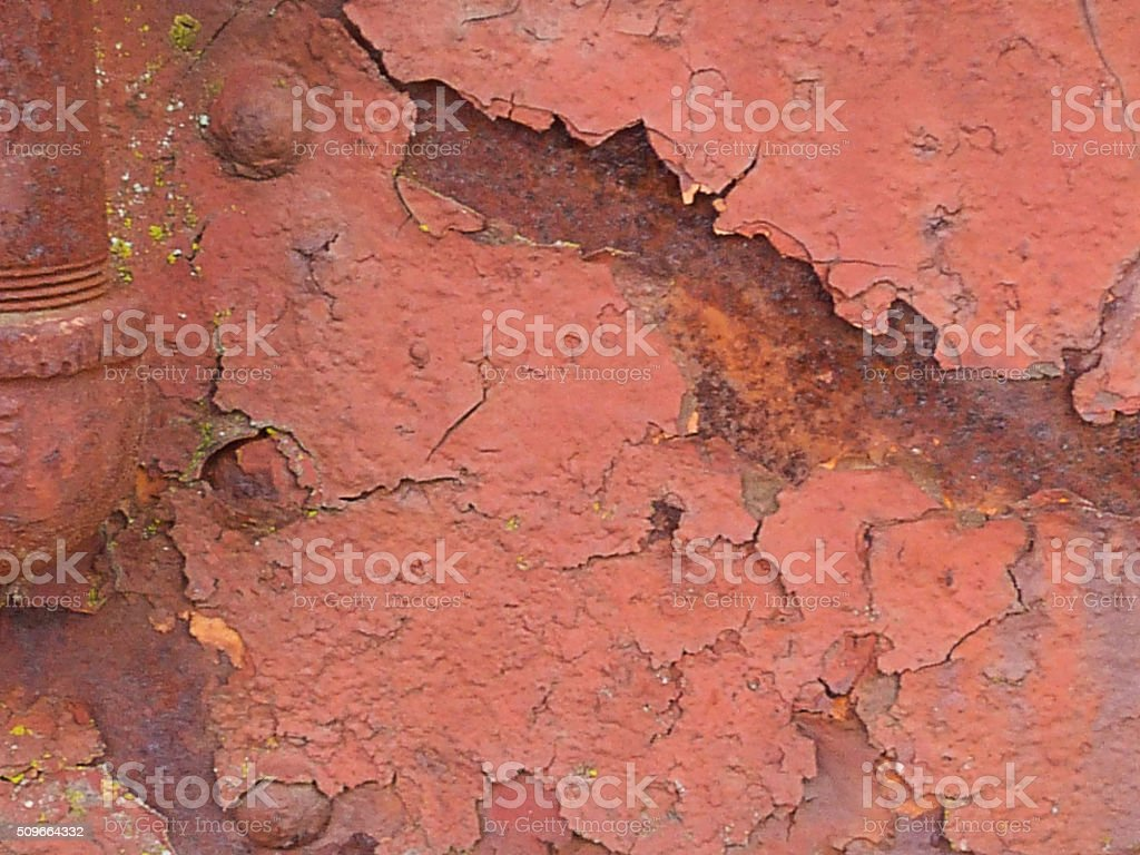Old Rusty Railroad Metal Rivots Grunge Abstract Background Weathered Peeling stock photo