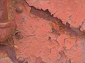 Old Rusty Railroad Metal Rivots Grunge Abstract Background Weathered Peeling