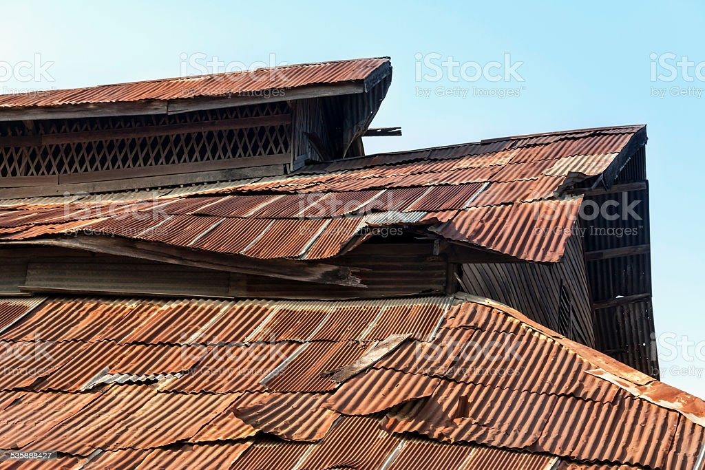 Old rusty roof royalty-free stock photo