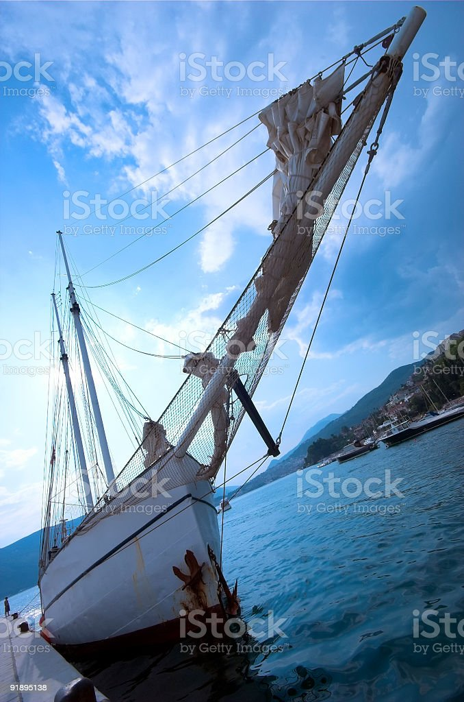 Old, rusty Sailboat royalty-free stock photo