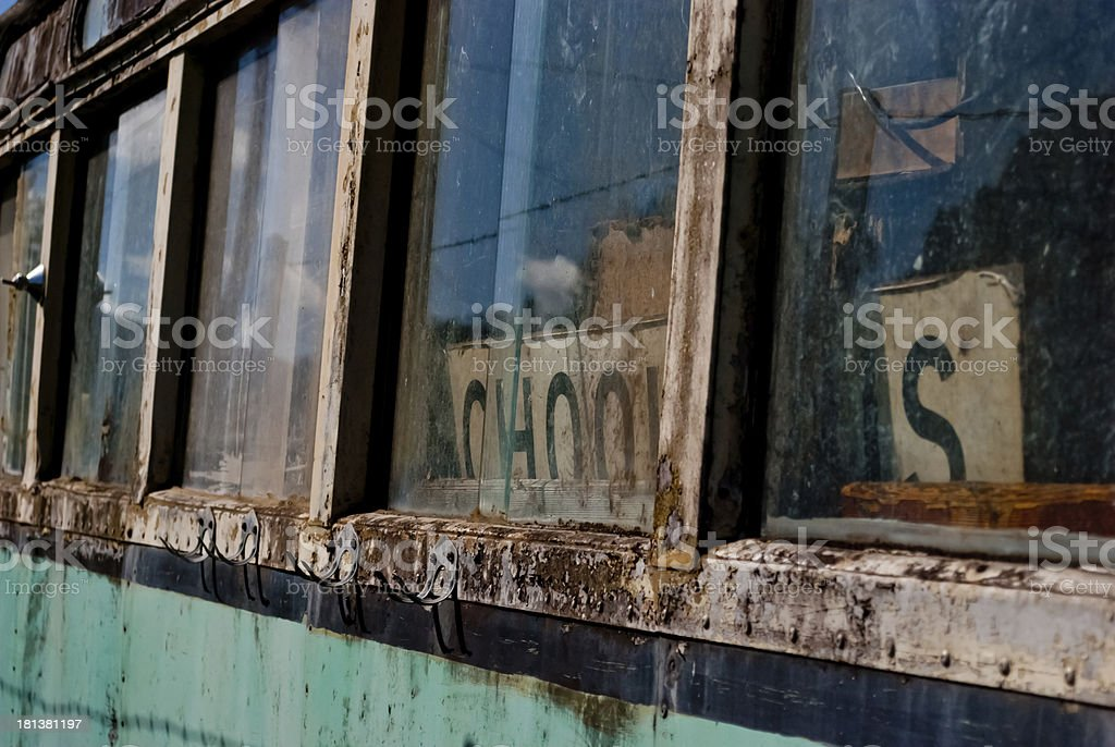Old rusty school bus royalty-free stock photo