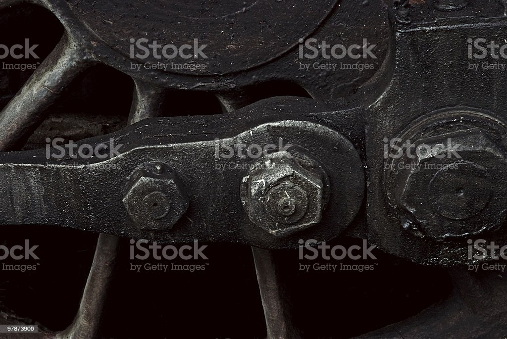 old, rusty steam train fragment royalty-free stock photo