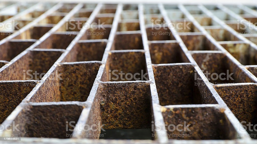 Old rusty steel grill royalty-free stock photo