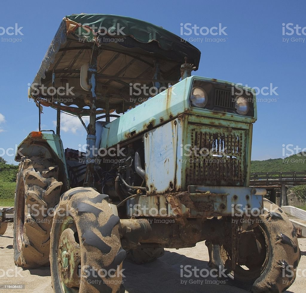 Old Rusty Tractor stock photo