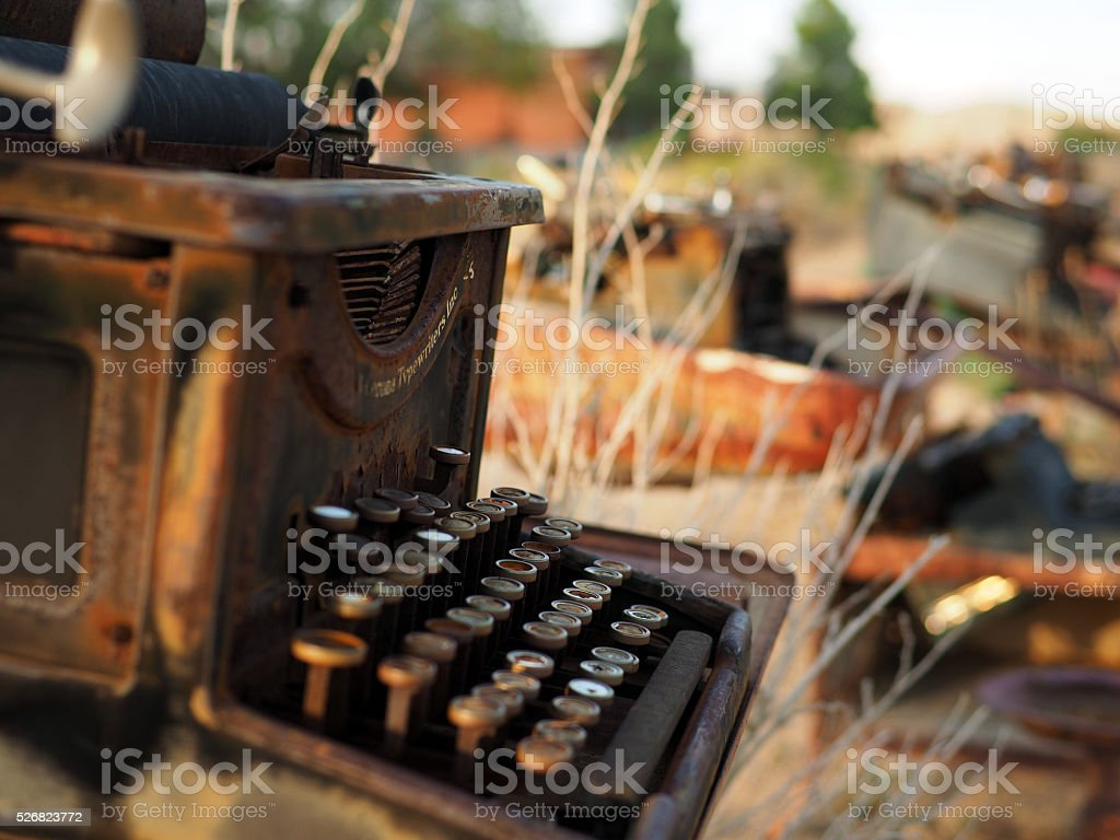 Old Rusty Typewriter stock photo