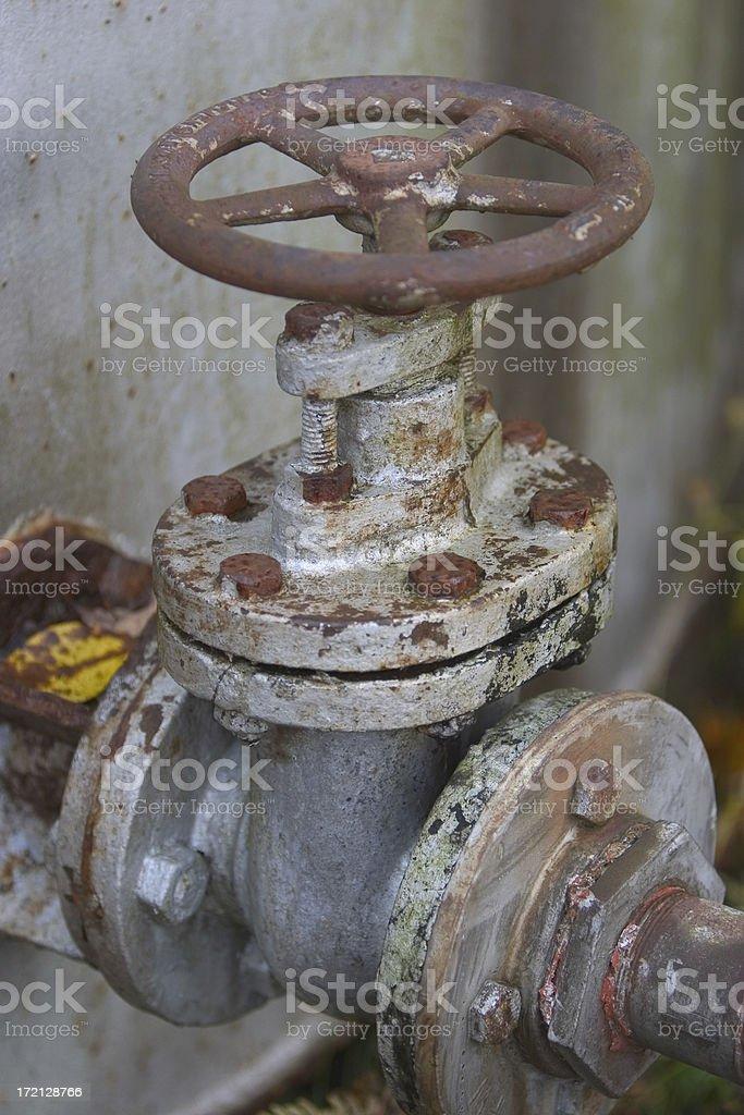 Old rusty valve stock photo