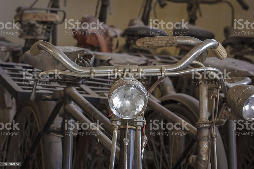 Old rusty vintage bicycle. royalty-free stock photo