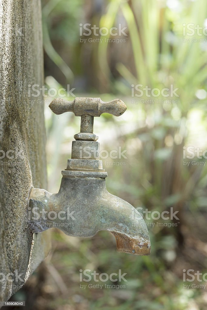 Old rusty water tap royalty-free stock photo
