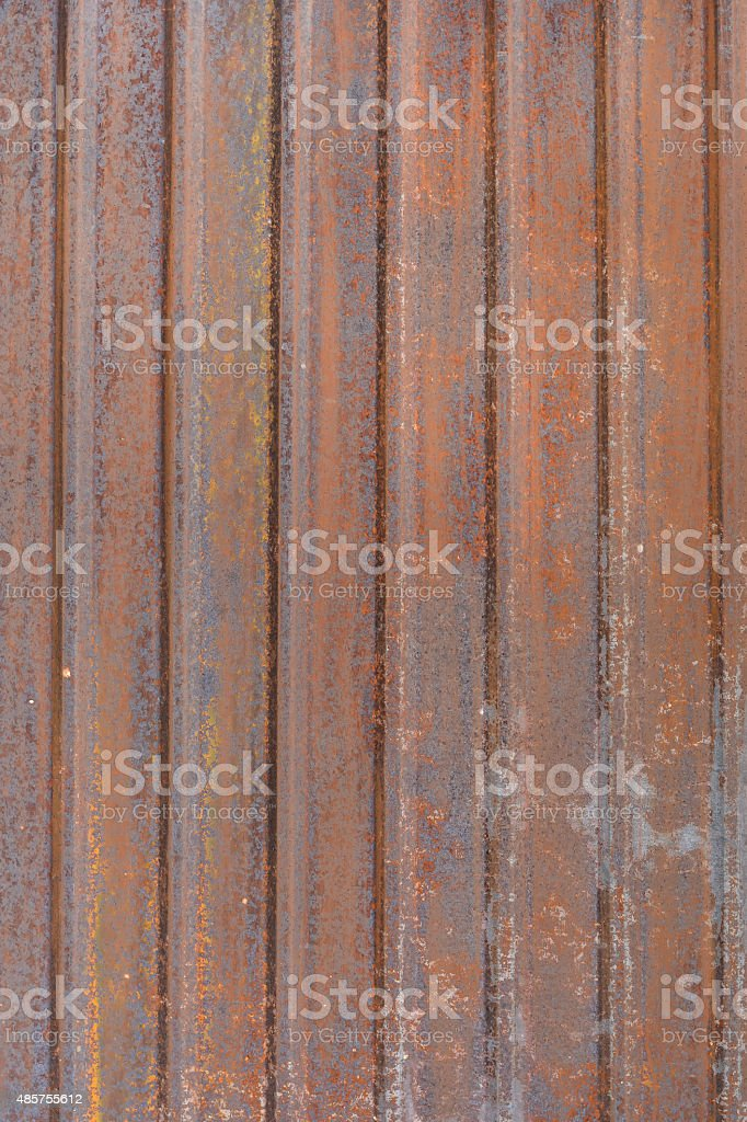 Old rusty zinc background stock photo