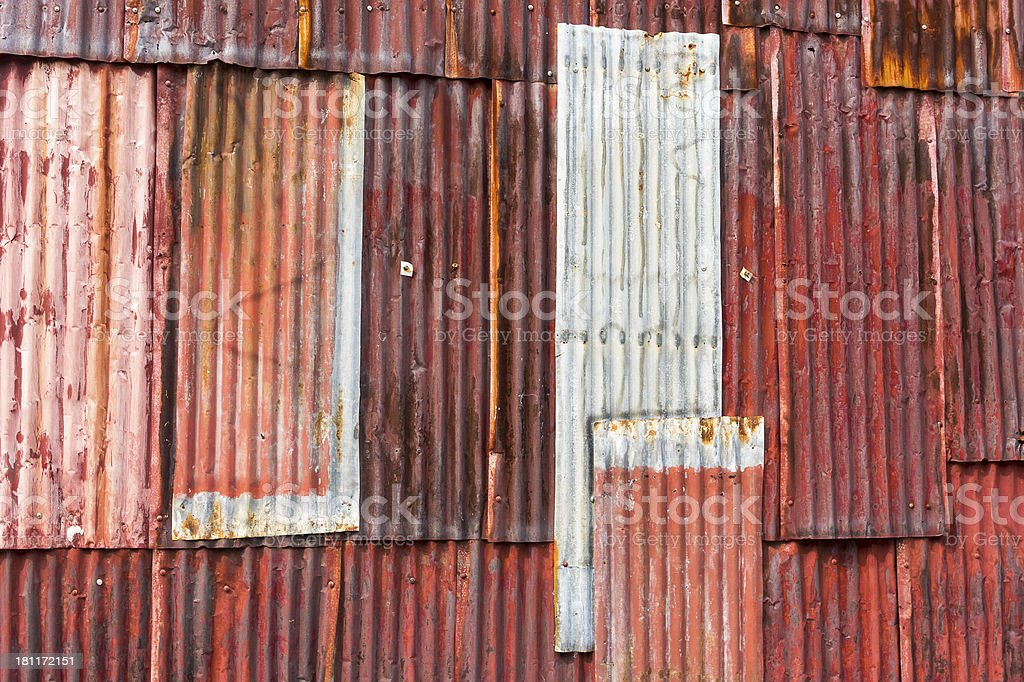 Old rusty zinc royalty-free stock photo