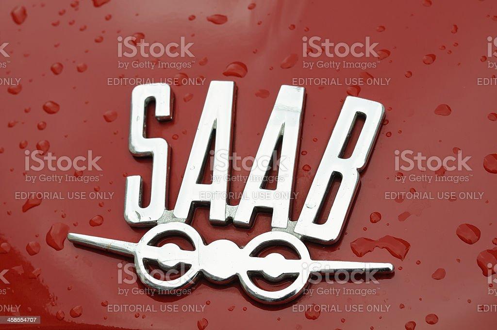 Old Saab logo stock photo