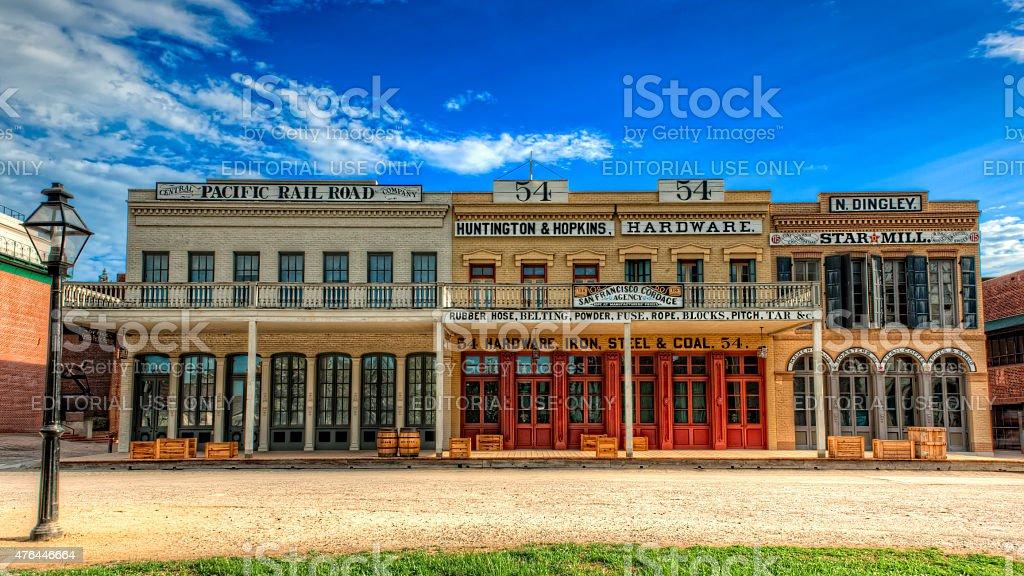 Old Sacramento Historic Buildings stock photo