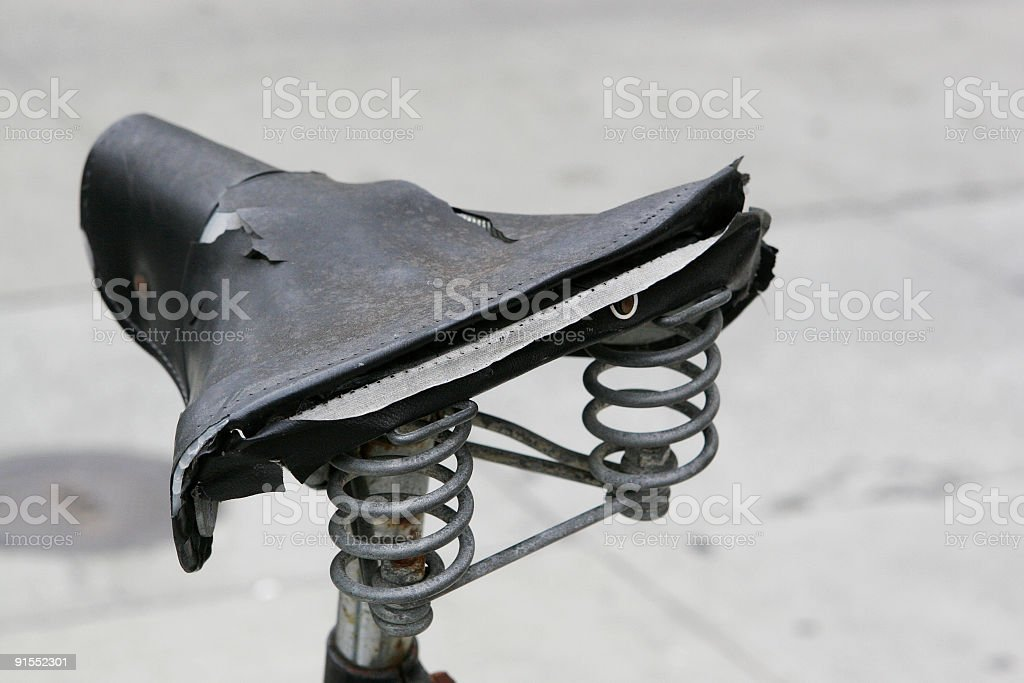 old saddle royalty-free stock photo