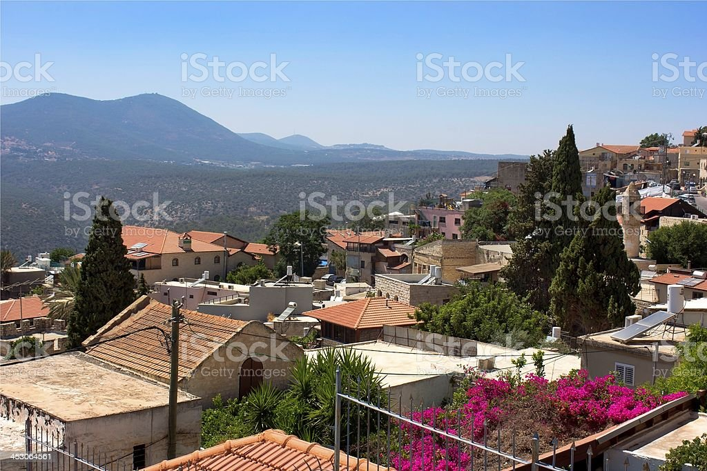 old Safed, Upper Galilee, Israel stock photo