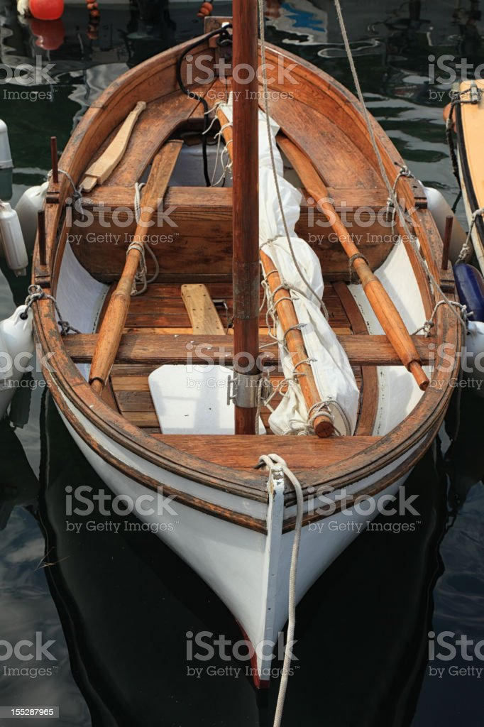 Old sail boat stock photo