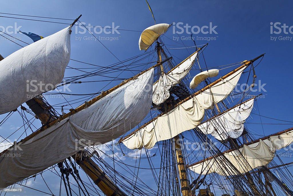 Old sailing ship Goteborg stock photo