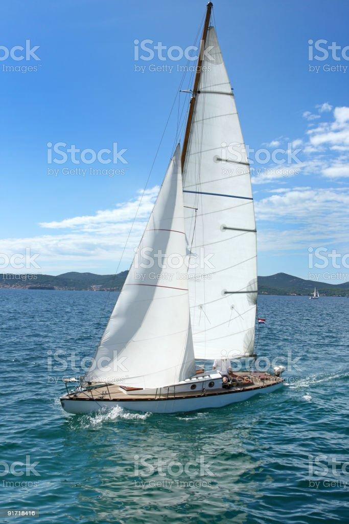 Old sailing-boat royalty-free stock photo