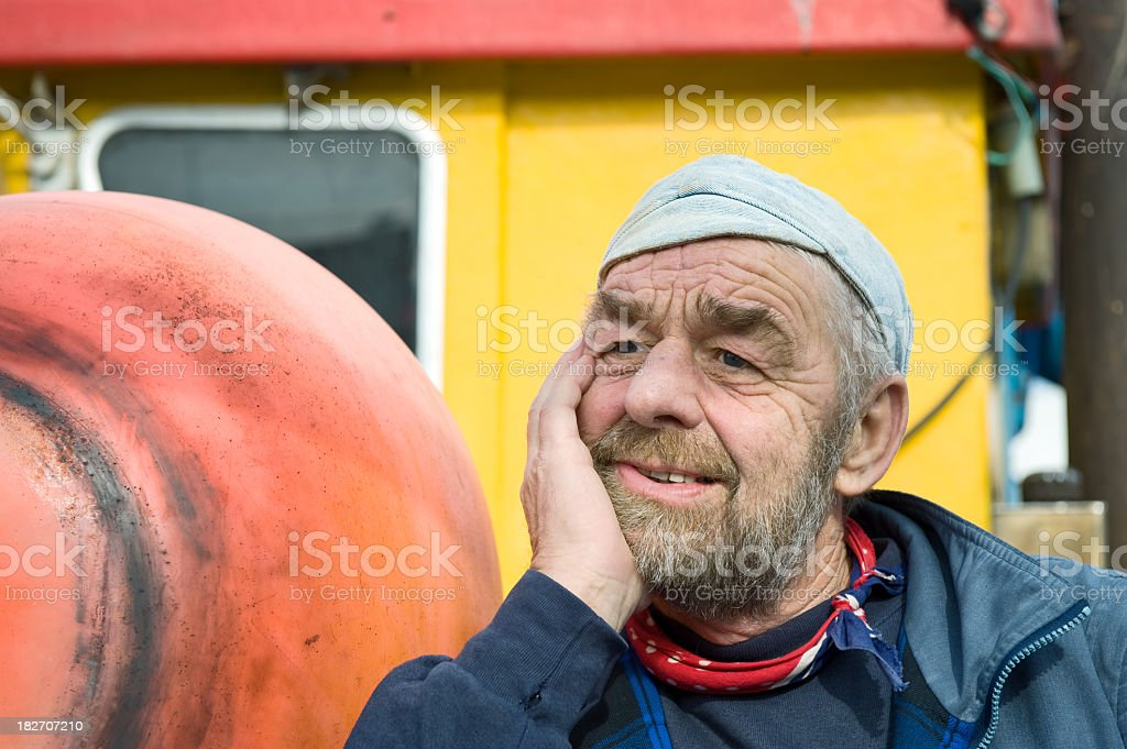 Old Sailor Fisherman royalty-free stock photo