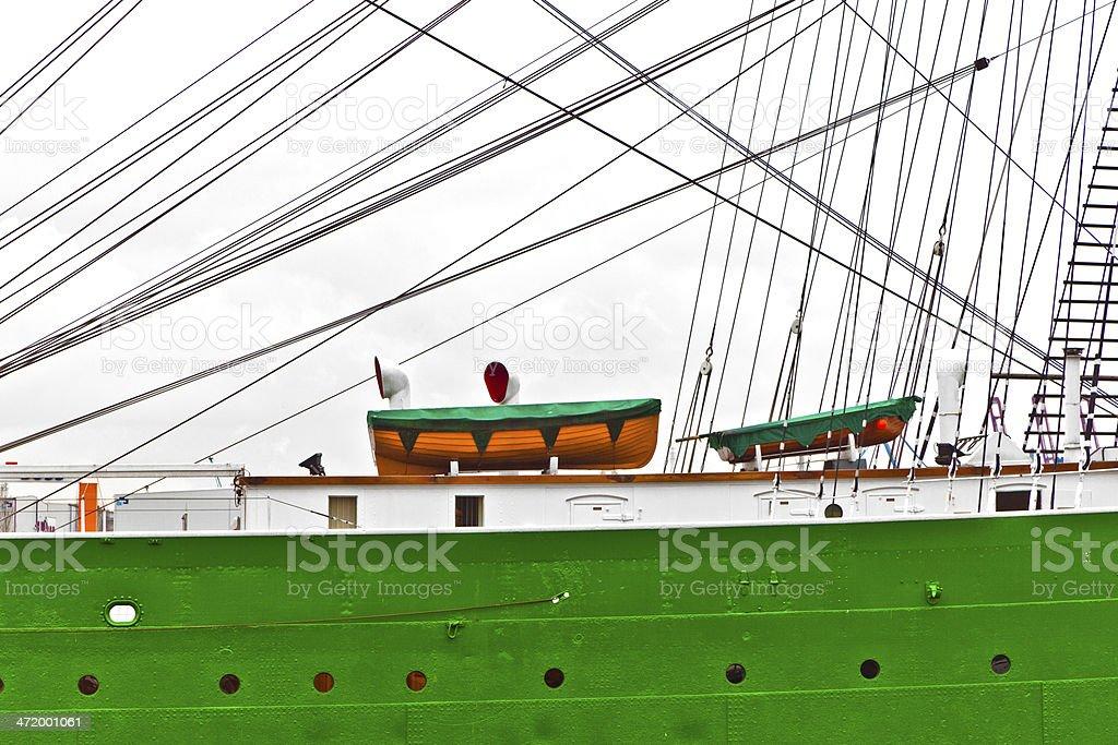 old sailor on pier stock photo