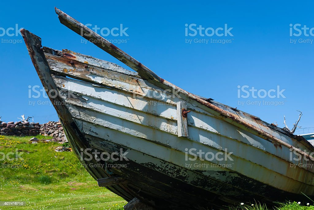 Old Salmon Boat stock photo