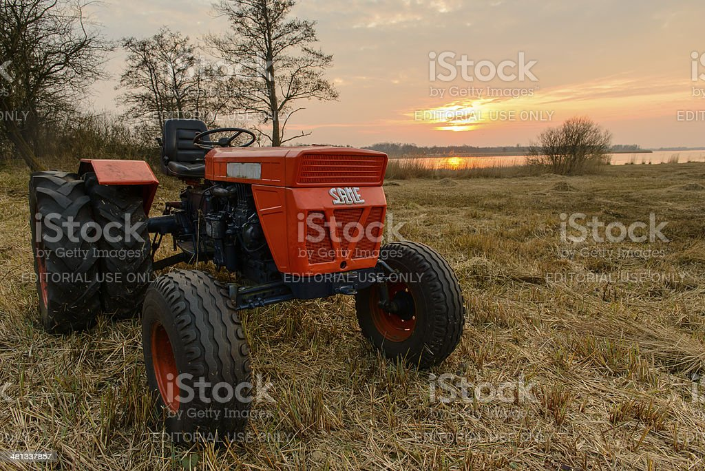 Old Same Tractor stock photo