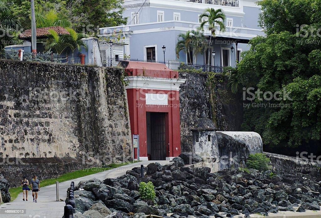Old San Juan Door stock photo