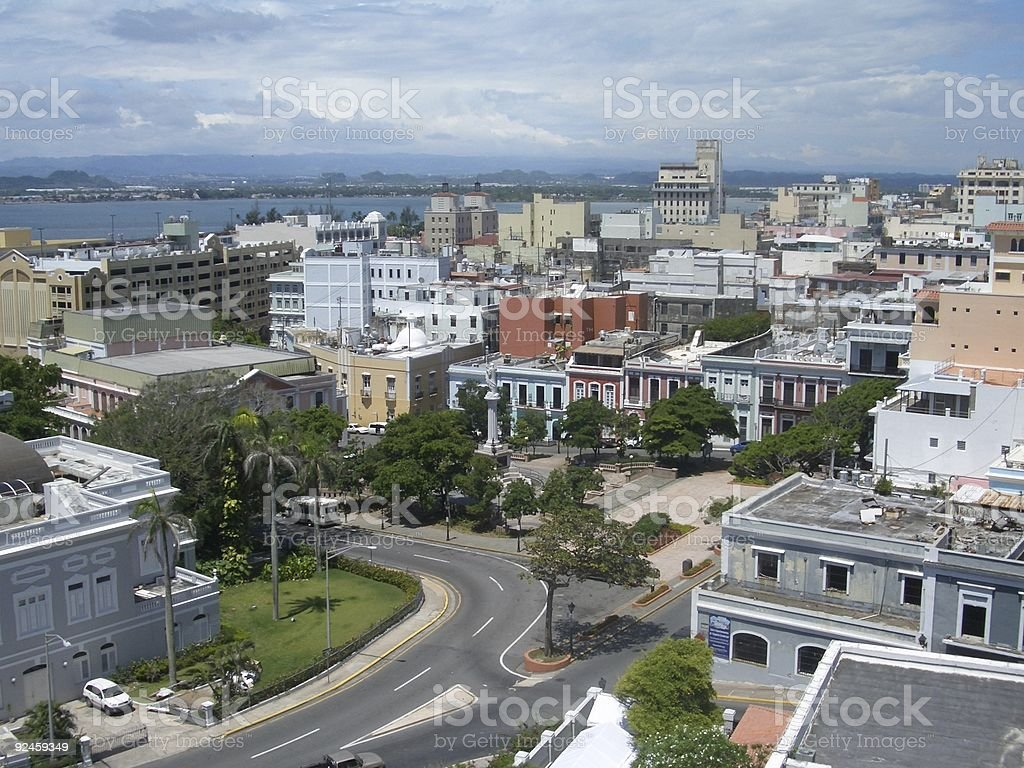 Old San Juan from the fort royalty-free stock photo
