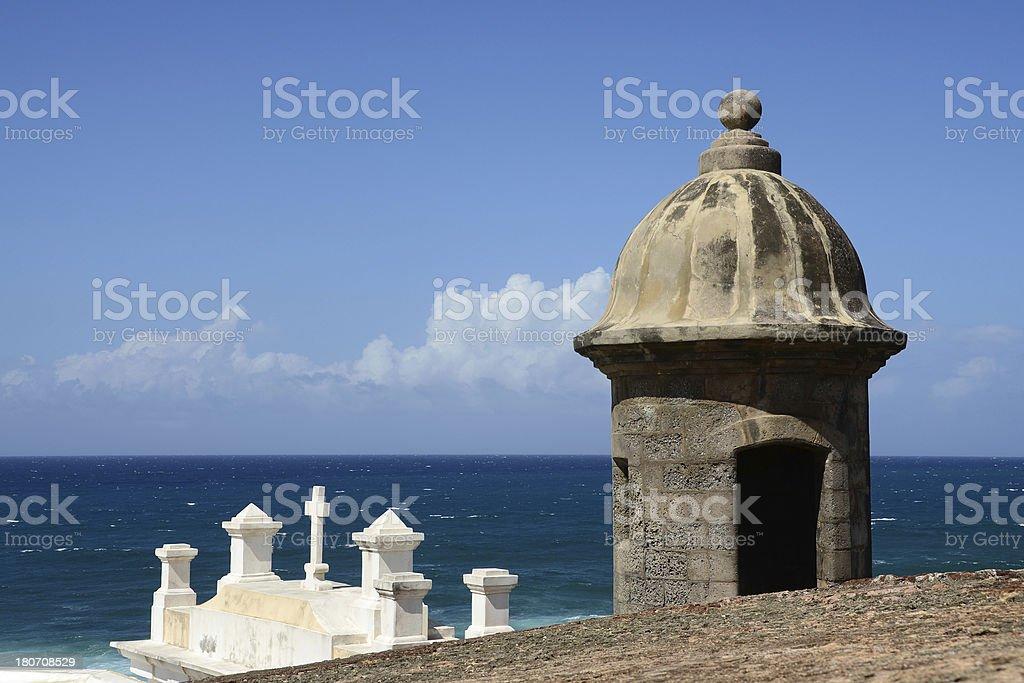 Old San Juan Lookout Tower stock photo