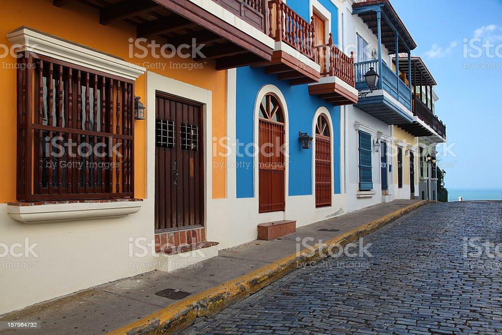 Old San Juan Street. stock photo