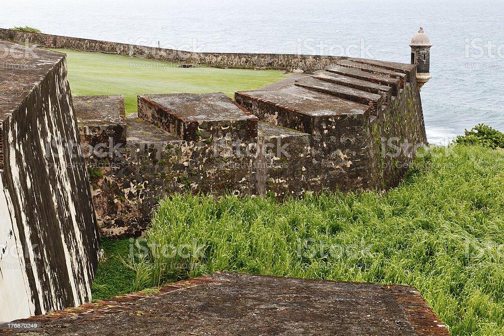Old San Juan Wall stock photo