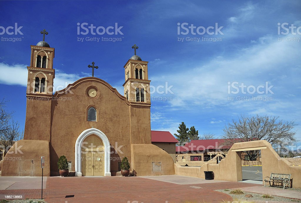 Old San Miguel Mission, Socorro, New Mexico stock photo